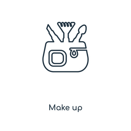 Make up concept line icon. Linear Make up concept outline symbol design. This simple element illustration can be used for web and mobile UI/UX.