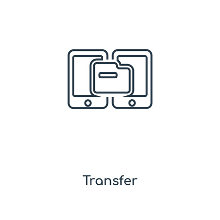 Transfer concept line icon. Linear Transfer concept outline symbol design. This simple element illustration can be used for web and mobile UI/UX. Illusztráció