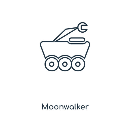 Moonwalker concept line icon. Linear Moonwalker concept outline symbol design. This simple element illustration can be used for web and mobile UIUX.