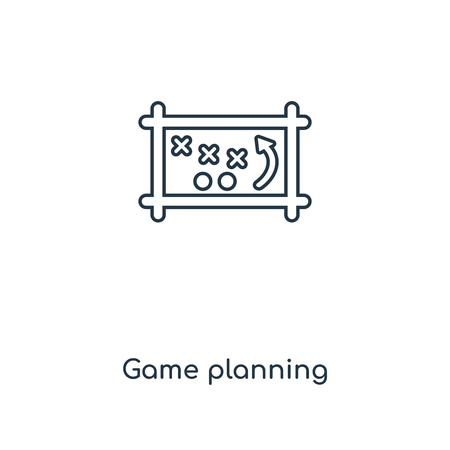 Game planning concept line icon. Linear Game planning concept outline symbol design. This simple element illustration can be used for web and mobile UI/UX.