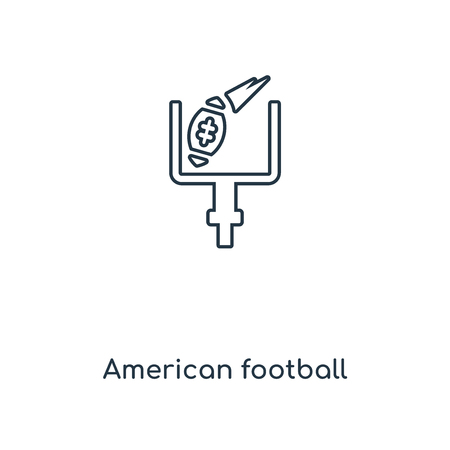 American football annotation concept line icon. Linear American football annotation concept outline symbol design. This simple element illustration can be used for web and mobile UIUX. Иллюстрация