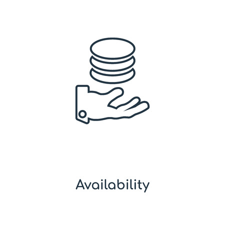 Availability concept line icon. Linear Availability concept outline symbol design. This simple element illustration can be used for web and mobile UI/UX.