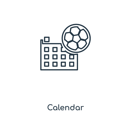 Calendar concept line icon. Linear Calendar concept outline symbol design. This simple element illustration can be used for web and mobile UI/UX.
