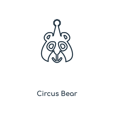 Circus Bear concept line icon. Linear Circus Bear concept outline symbol design. This simple element illustration can be used for web and mobile UIUX. Ilustração