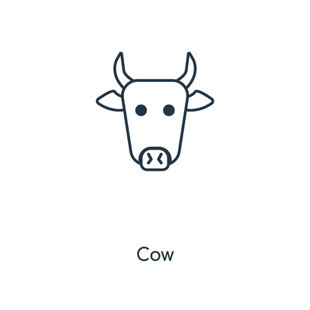 Cow concept line icon. Linear Cow concept outline symbol design. This simple element illustration can be used for web and mobile UI/UX.