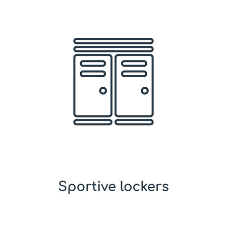 Sportive lockers concept line icon. Linear Sportive lockers concept outline symbol design. This simple element illustration can be used for web and mobile UI/UX. 向量圖像