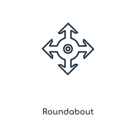 Icône de ligne concept rond-point. Conception de symbole de contour de concept de rond-point linéaire. Cette illustration d'élément simple peut être utilisée pour l'interface utilisateur/UX Web et mobile.