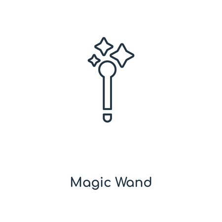Magic Wand concept line icon. Linear Magic Wand concept outline symbol design. This simple element illustration can be used for web and mobile UIUX.