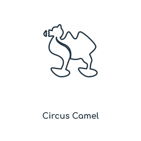 Circus Camel concept line icon. Linear Circus Camel concept outline symbol design. This simple element illustration can be used for web and mobile UI/UX.