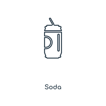 Soda concept line icon. Linear Soda concept outline symbol design. This simple element illustration can be used for web and mobile UI/UX.