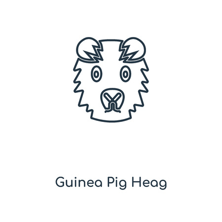 Guinea Pig Heag concept line icon. Linear Guinea Pig Heag concept outline symbol design. This simple element illustration can be used for web and mobile UIUX.
