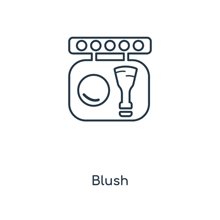 Blush concept line icon. Linear Blush concept outline symbol design. This simple element illustration can be used for web and mobile UI/UX. 版權商用圖片 - 111327736