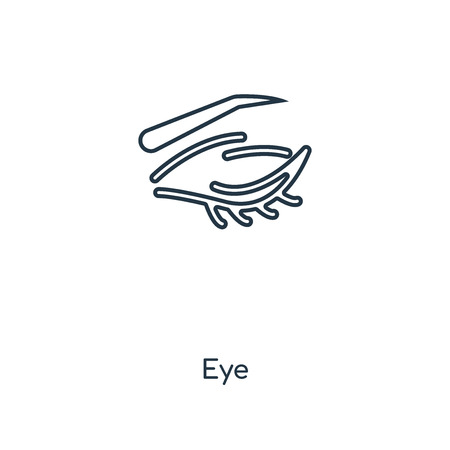 Eye concept line icon. Linear Eye concept outline symbol design. This simple element illustration can be used for web and mobile UI/UX.