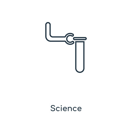 Science concept line icon. Linear Science concept outline symbol design. This simple element illustration can be used for web and mobile UI/UX.