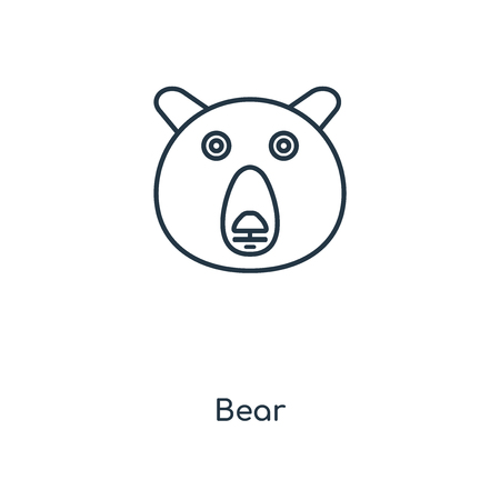 Bear concept line icon. Linear Bear concept outline symbol design. This simple element illustration can be used for web and mobile UI/UX.