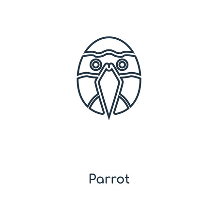 Parrot concept line icon. Linear Parrot concept outline symbol design. This simple element illustration can be used for web and mobile UIUX.