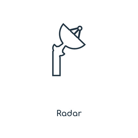 Radar concept line icon. Linear Radar concept outline symbol design. This simple element illustration can be used for web and mobile UI/UX.