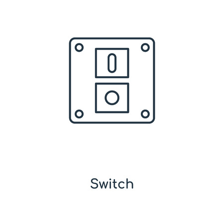 Switch concept line icon. Linear Switch concept outline symbol design. This simple element illustration can be used for web and mobile UI/UX. Illusztráció