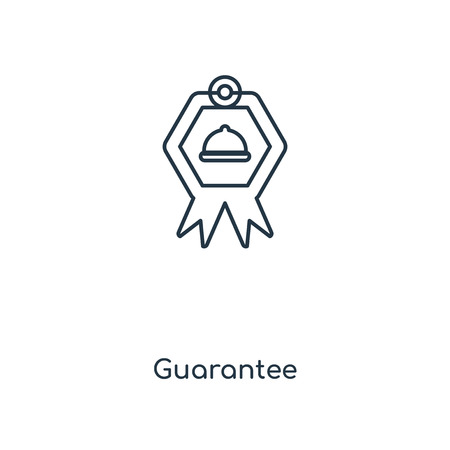 Guarantee concept line icon. Linear Guarantee concept outline symbol design. This simple element illustration can be used for web and mobile UIUX.
