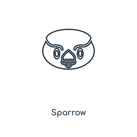 Sparrow concept line icon. Linear Sparrow concept outline symbol design. This simple element illustration can be used for web and mobile UI/UX.