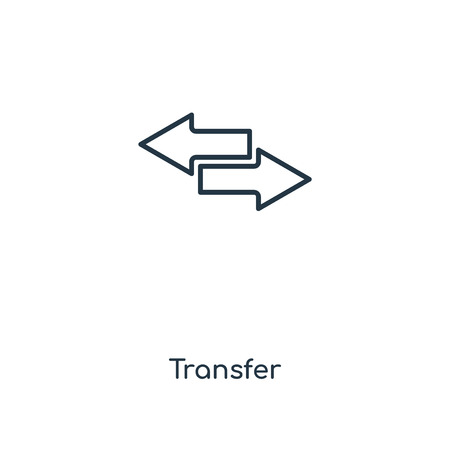 Transfer concept line icon. Linear Transfer concept outline symbol design. This simple element illustration can be used for web and mobile UIUX.
