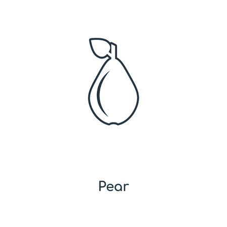 Pear concept line icon. Linear Pear concept outline symbol design. This simple element illustration can be used for web and mobile UI/UX.