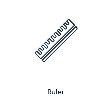 Ruler concept line icon. Linear Ruler concept outline symbol design. This simple element illustration can be used for web and mobile UI/UX.