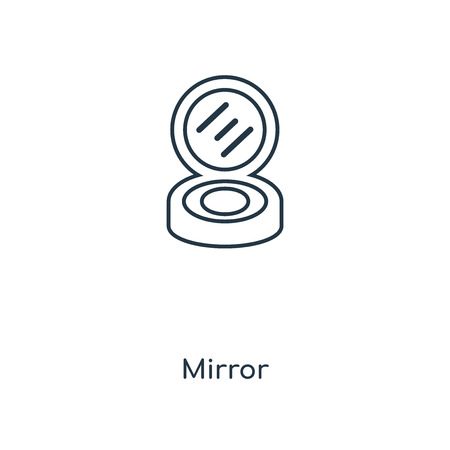 Mirror concept line icon. Linear Mirror concept outline symbol design. This simple element illustration can be used for web and mobile UI/UX.