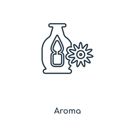 Aroma concept line icon. Linear Aroma concept outline symbol design. This simple element illustration can be used for web and mobile UI/UX.