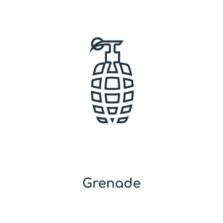 Grenade concept line icon. Linear Grenade concept outline symbol design. This simple element illustration can be used for web and mobile UI/UX.