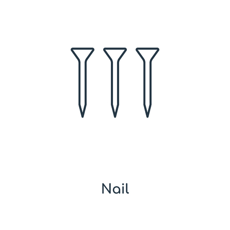 Nail concept line icon. Linear Nail concept outline symbol design. This simple element illustration can be used for web and mobile UI/UX.