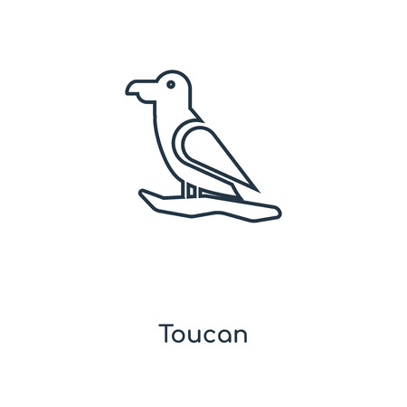 Toucan concept line icon. Linear Toucan concept outline symbol design. This simple element illustration can be used for web and mobile UI/UX. Illustration