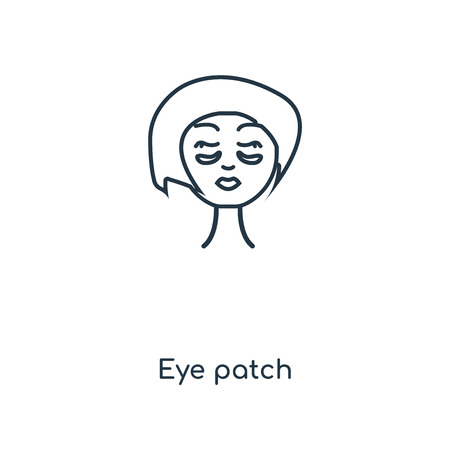 Eye patch concept line icon. Linear Eye patch concept outline symbol design. This simple element illustration can be used for web and mobile UIUX.