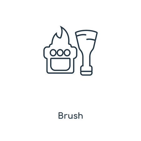 Brush concept line icon. Linear Brush concept outline symbol design. This simple element illustration can be used for web and mobile UI/UX.