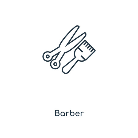 Barber concept line icon. Linear Barber concept outline symbol design. This simple element illustration can be used for web and mobile UI/UX. 向量圖像