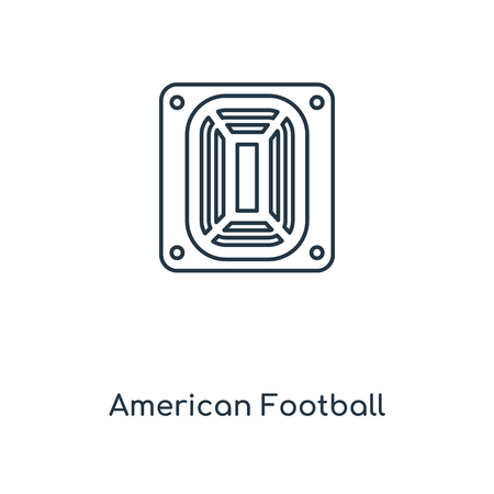 American Football Stadium concept line icon. Linear American Football Stadium concept outline symbol design. This simple element illustration can be used for web and mobile UIUX. Ilustração