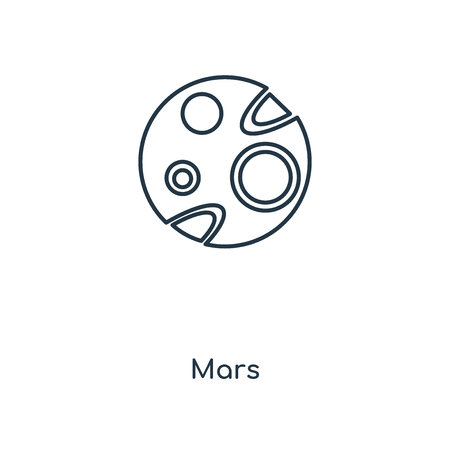 Mars concept line icon. Linear Mars concept outline symbol design. This simple element illustration can be used for web and mobile UI/UX.