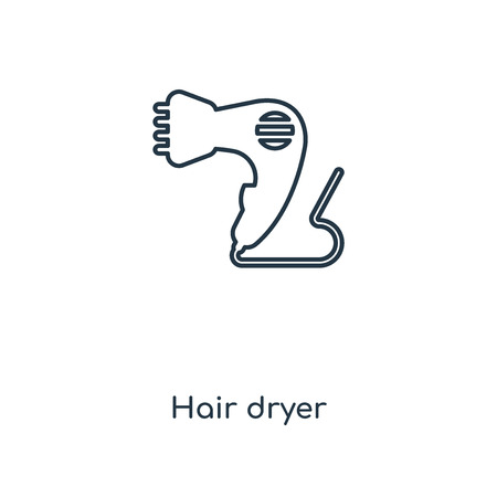 Hair dryer concept line icon. Linear Hair dryer concept outline symbol design. This simple element illustration can be used for web and mobile UI/UX.