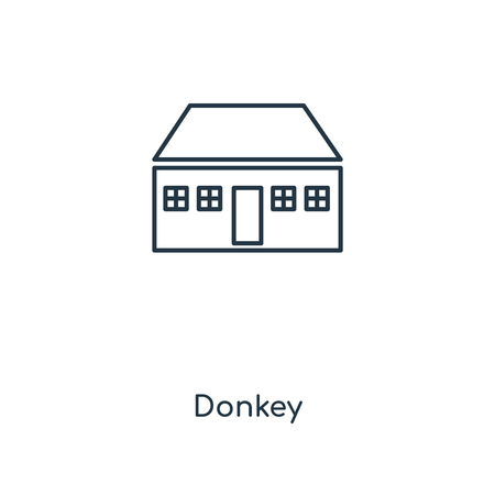 Donkey concept line icon. Linear Donkey concept outline symbol design. This simple element illustration can be used for web and mobile UI/UX.