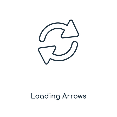 Loading Arrows concept line icon. Linear Loading Arrows concept outline symbol design. This simple element illustration can be used for web and mobile UI/UX. Ilustración de vector