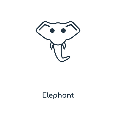 Elephant concept line icon. Linear Elephant concept outline symbol design. This simple element illustration can be used for web and mobile UI/UX.