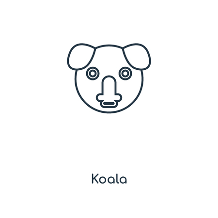 Koala concept line icon. Linear Koala concept outline symbol design. This simple element illustration can be used for web and mobile UI/UX.