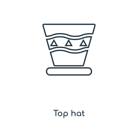 Top hat concept line icon. Linear Top hat concept outline symbol design. This simple element illustration can be used for web and mobile UI/UX.