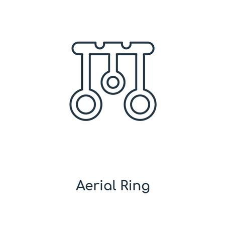 Aerial Ring concept line icon. Linear Aerial Ring concept outline symbol design. This simple element illustration can be used for web and mobile UI/UX.