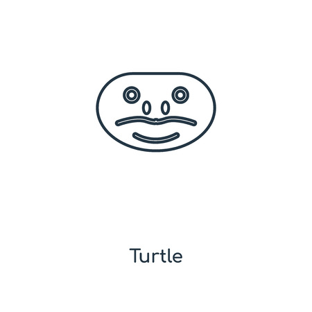 Turtle concept line icon. Linear Turtle concept outline symbol design. This simple element illustration can be used for web and mobile UI/UX.