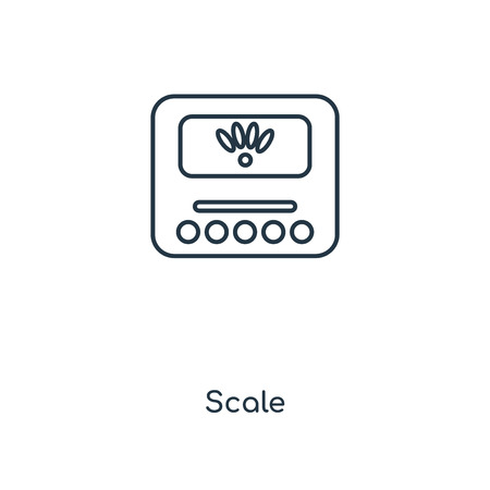 Scale concept line icon. Linear Scale concept outline symbol design. This simple element illustration can be used for web and mobile UI/UX.