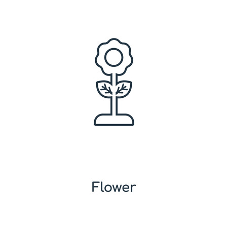 Flower concept line icon. Linear Flower concept outline symbol design. This simple element illustration can be used for web and mobile UI/UX.