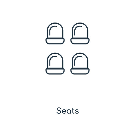 Seats concept line icon. Linear Seats concept outline symbol design. This simple element illustration can be used for web and mobile UI/UX. Ilustracja