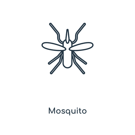 Mosquito concept line icon. Linear Mosquito concept outline symbol design. This simple element illustration can be used for web and mobile UI/UX.