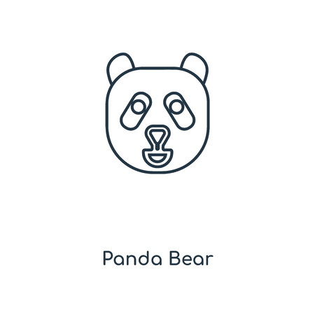 Panda Bear concept line icon. Linear Panda Bear concept outline symbol design. This simple element illustration can be used for web and mobile UI/UX.